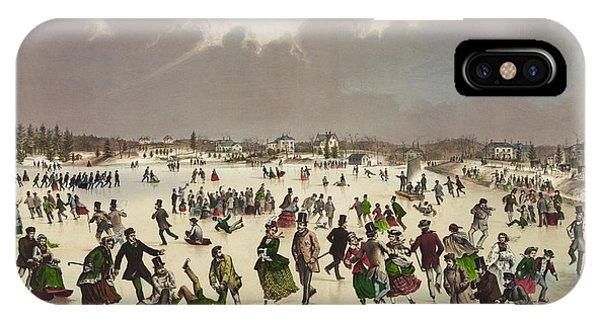 Winter Scene Circa 1859 IPhone Case