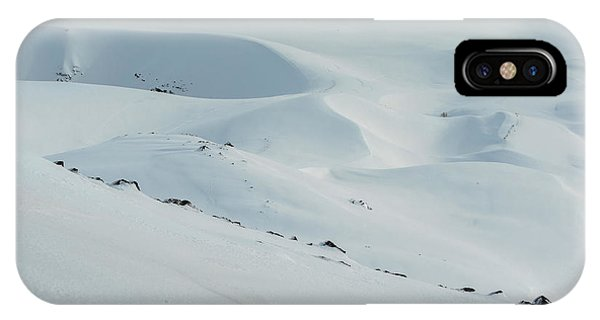 Mt Etna iPhone Case - Winter Scenery With Snow Covered Hills by Paolo Sartori