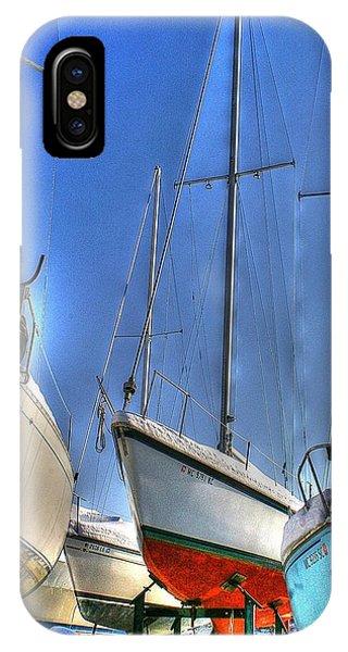 Winter Shipyard IPhone Case