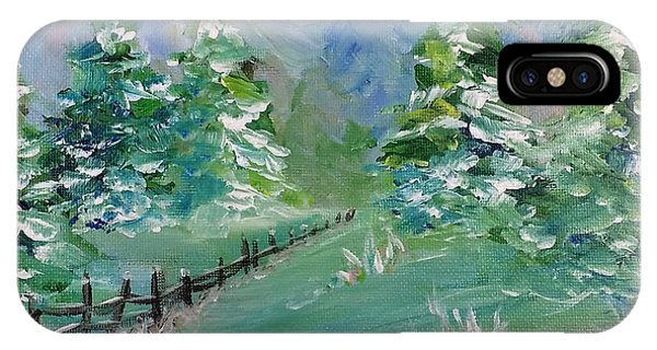 IPhone Case featuring the painting Winter Silence by Lauren Heller
