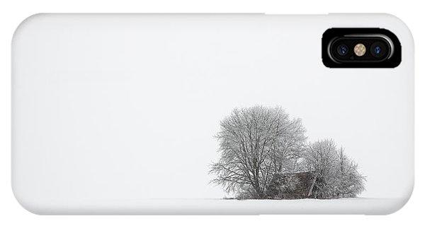 Simple Landscape iPhone Case - Winter Silence by Tom Meier