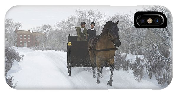 Winter Sleigh Ride IPhone Case