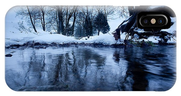 Winter Snow On Stream IPhone Case