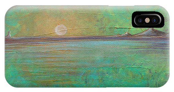IPhone Case featuring the painting Winter Solitude 7 by Jacqueline Athmann