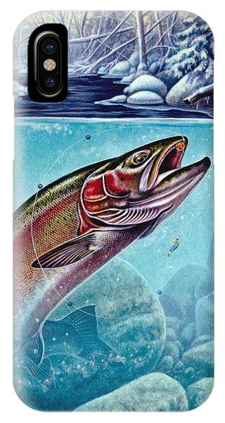 Trout iPhone Case - Winter Steelhead by JQ Licensing