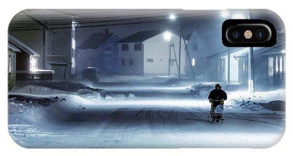 Winter iPhone Case - Winter Street by Mette Caroline Str?ksnes