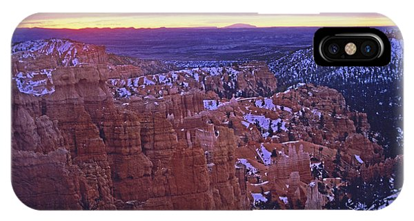 Winter Sunrise At Bryce Canyon IPhone Case