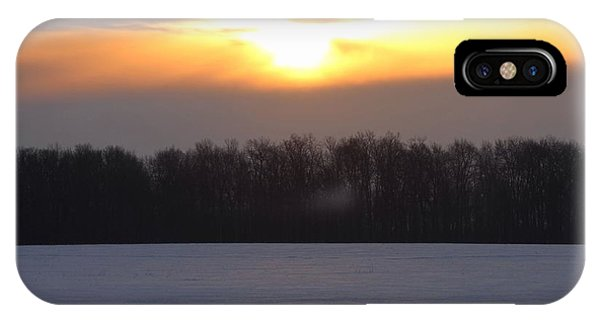 Winter Sunrise Over Forest IPhone Case