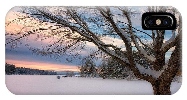 Winter Sunset On Long Lake IPhone Case