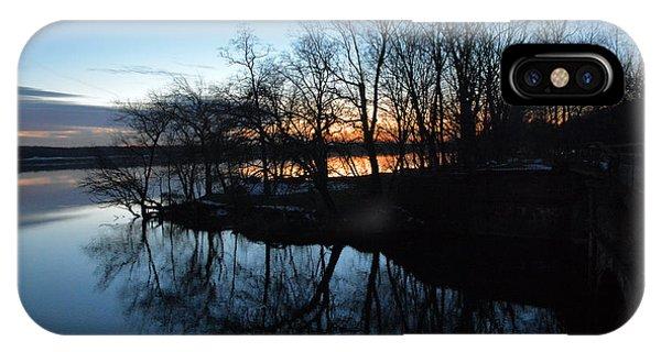 Winter Sunset On Potomac River Phone Case by Bill Helman