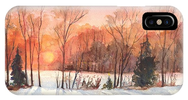 A Hedgerow Sunset IPhone Case