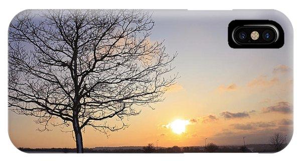 Winter Sunset Uk IPhone Case