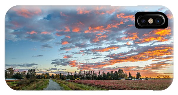 Wheeler Farm iPhone Case - Winter Sunsets by James Wheeler