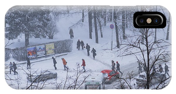 Winter Traffic IPhone Case