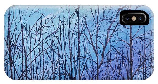 Winter Trees Against A Blue Sky IPhone Case