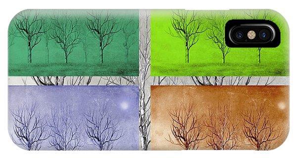 Shrub iPhone Case - Winter Trees  by David Dehner