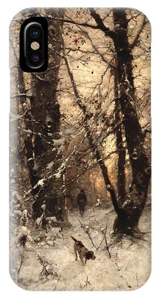 Wintry iPhone Case - Winter Twilight by Ludwig Munthe