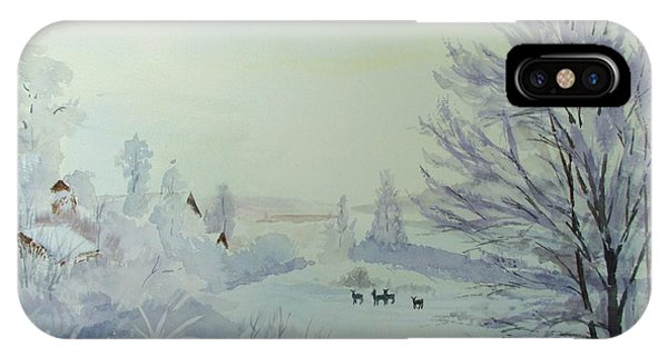 Winter Visitors IPhone Case