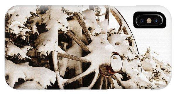 Winter Wagon Wheel IPhone Case