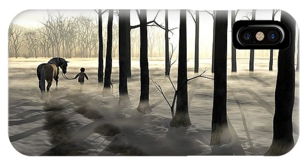 Treeline iPhone Case - Winter Walk by Cynthia Decker