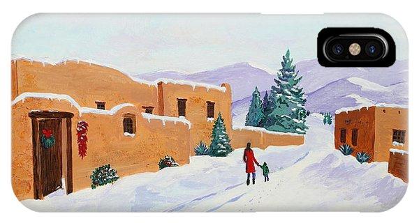 Winter Walk Phone Case by Mary Anne Civiok