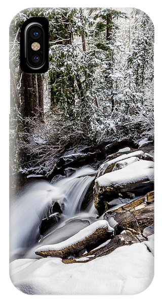 Winter Water Fall 2 IPhone Case
