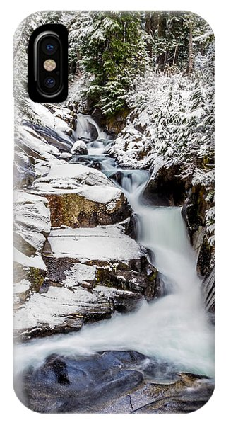 Winter Water Fall 3 IPhone Case