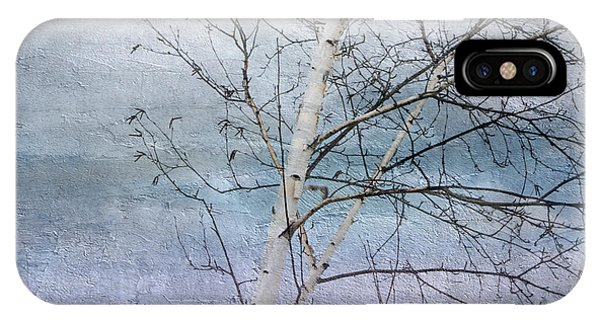 Winter White Birch  IPhone Case