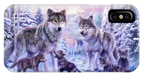 Winter Wolf Family  IPhone Case