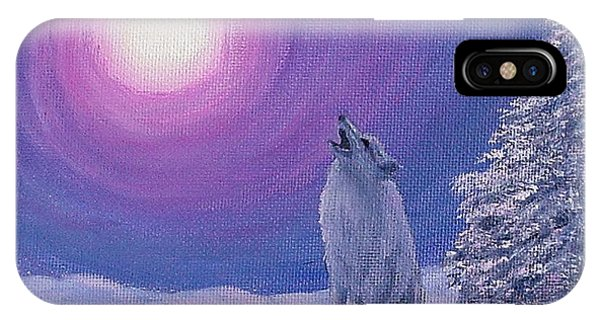 Winter Wolf Song IPhone Case