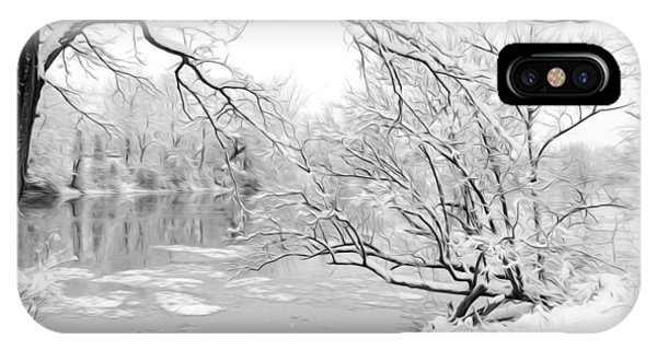 Winter Wonderland In Black And White IPhone Case