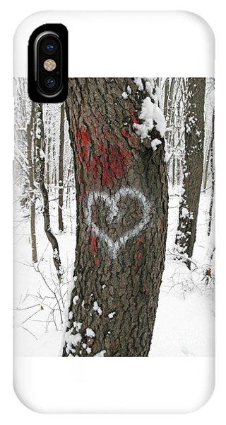 Winter Woods Romance IPhone Case
