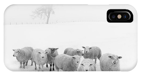 Farm iPhone Case - Winter Woollies by Janet Burdon