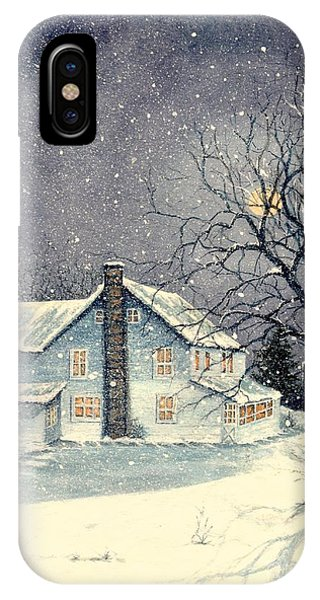 Winter's Silent Night IPhone Case