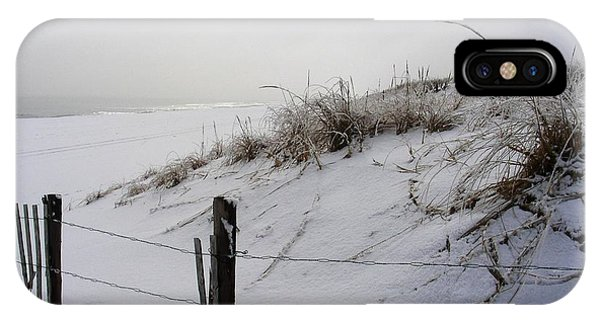 Winters Snow At Island Beach State Park Phone Case by Vincent DeLucia
