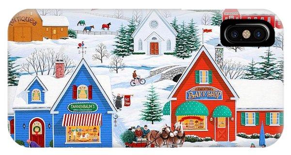 Wintertime In Sugarcreek IPhone Case
