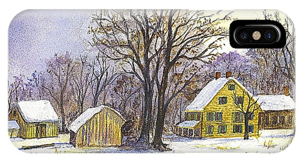 Wintertime In The Country IPhone Case
