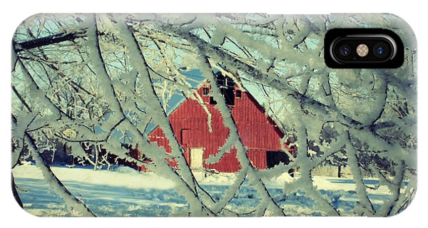 Our Frosty Barn IPhone Case