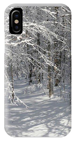 Wintery Woodland Shadows IPhone Case