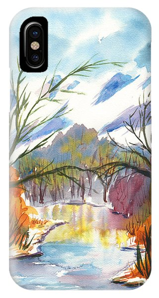 Wintry Reflections IPhone Case