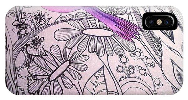 Nature iPhone Case - #wip #birdart #gardenart #flowers by Robin Mead