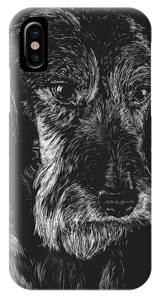 Wire Haired Dachshund IPhone Case