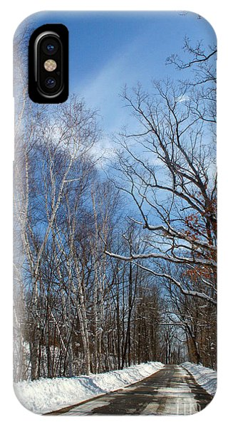 Wisconsin Winter Road IPhone Case