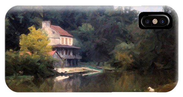 A Duck And A House On The Canal IPhone Case