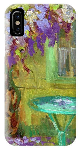Wisteria At Hotel Baudy IPhone Case