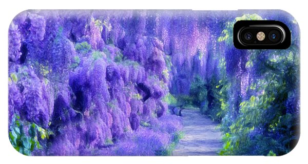 Pastel Colors iPhone Case - Wisteria Dreams Impressionism by Georgiana Romanovna
