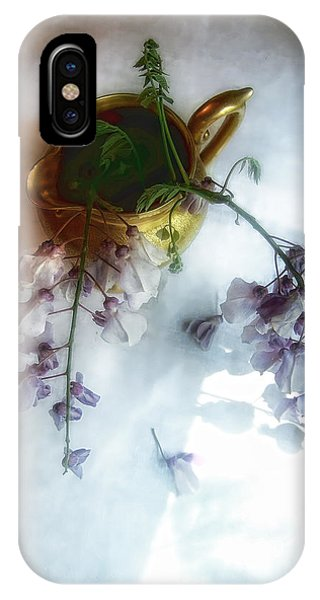 Wisteria In A Gold Pitcher Still Life IPhone Case