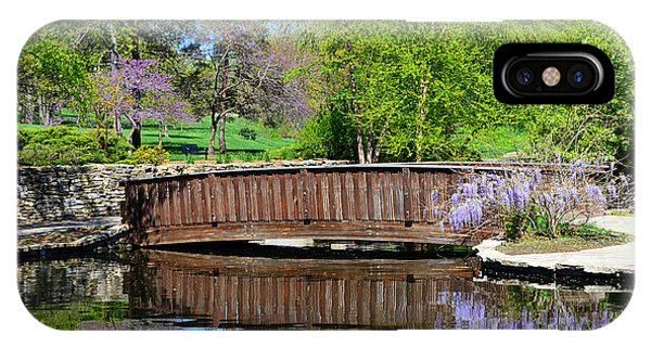 Wisteria In Bloom At Loose Park Bridge IPhone Case
