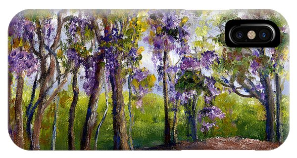 Wisteria In Louisiana Trees IPhone Case
