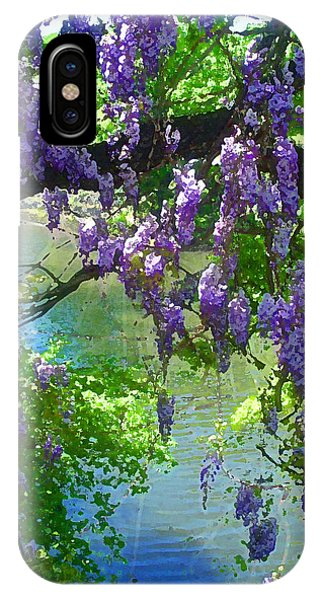 Wisteria Over Turtle Creek IPhone Case
